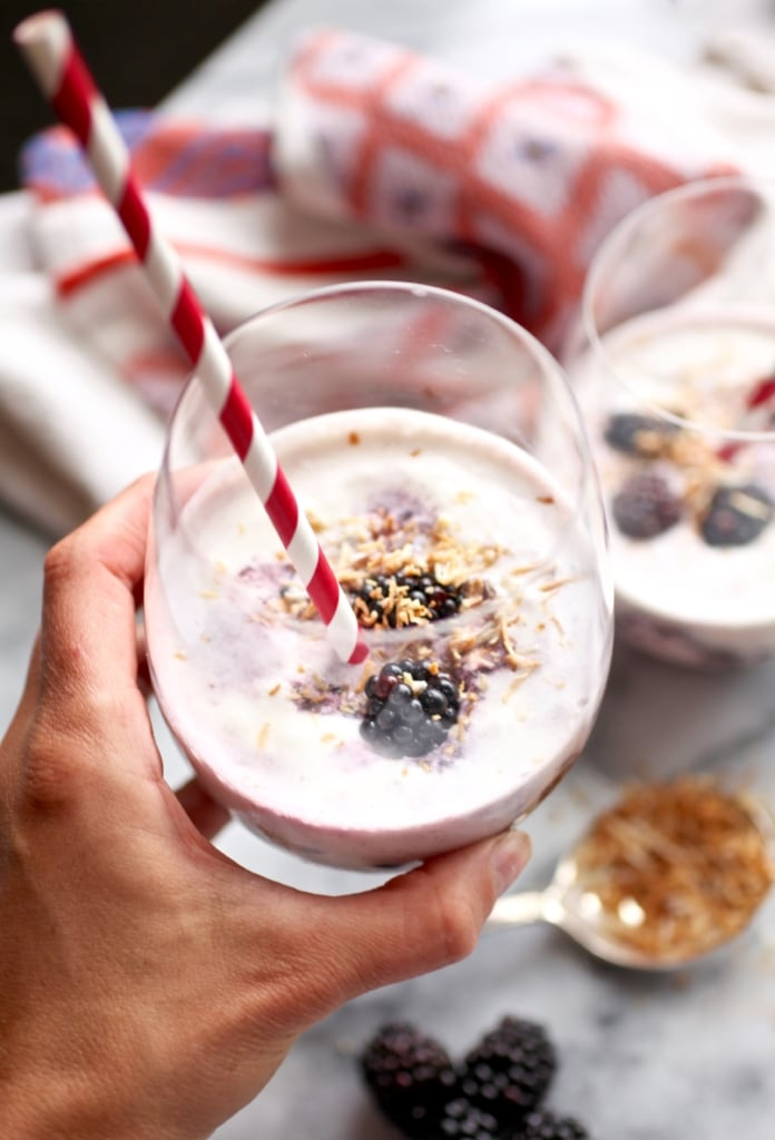 Healthy Muddled Blackberry Pina Coladas for #DrinkTheSummer via Nutritionist in the Kitch