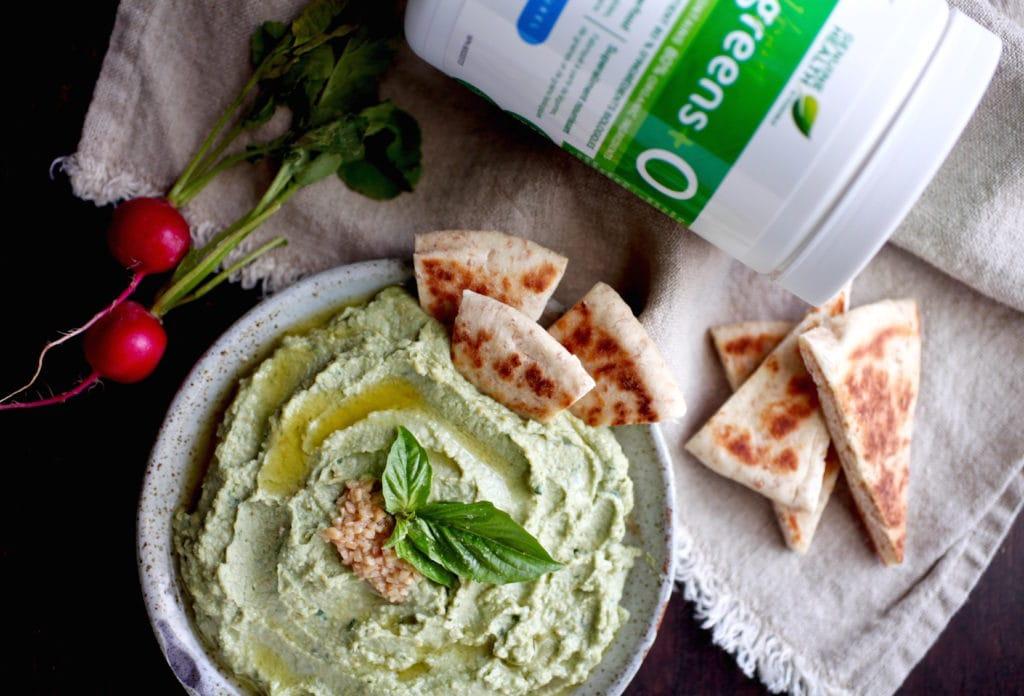Supercharged Basil & Garlic Hummus