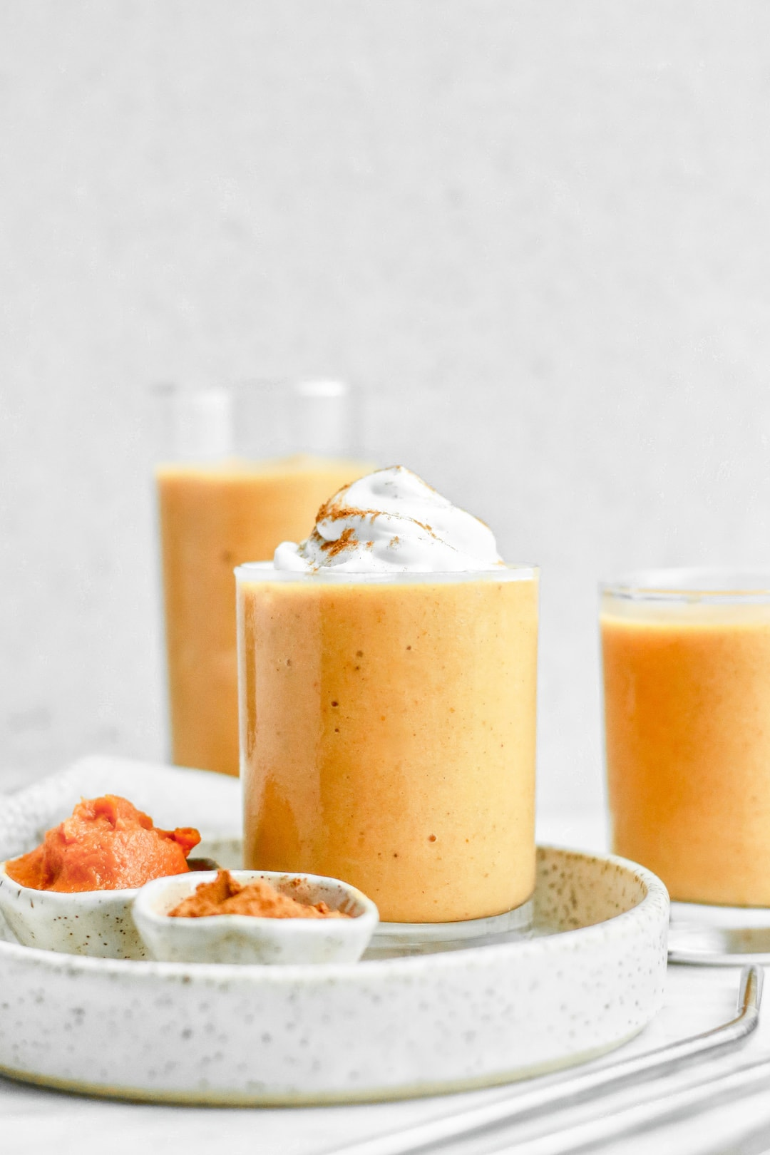 Creamy Dairy Free Healthy Vegan Pumpkin Pie Protein Smoothie