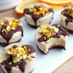 Vegan Chocolate Orange Mini Protein Cheesecakes