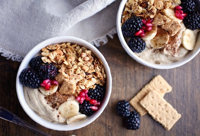 Gingerbread Pudding Granola Breakfast Bowl