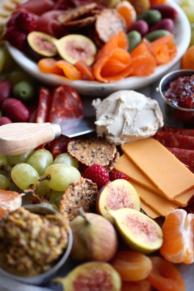 DIY Gluten & Dairy Free Holiday Charcuterie Platter via Nutritionist in the Kitch