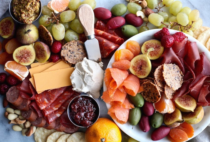 DIY Gluten & Dairy Free Holiday Charcuterie Platter (with vegan options!)