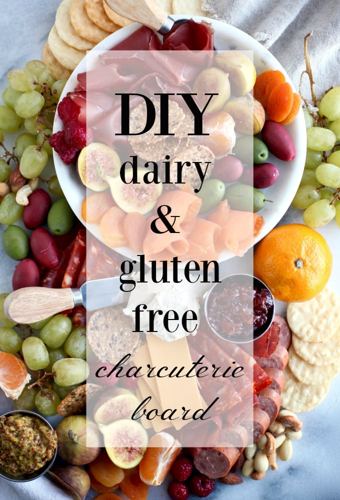 DIY Gluten & Dairy Free Holiday Charcuterie Platter (with VEGAN options!) via Nutritionist in the Kitch