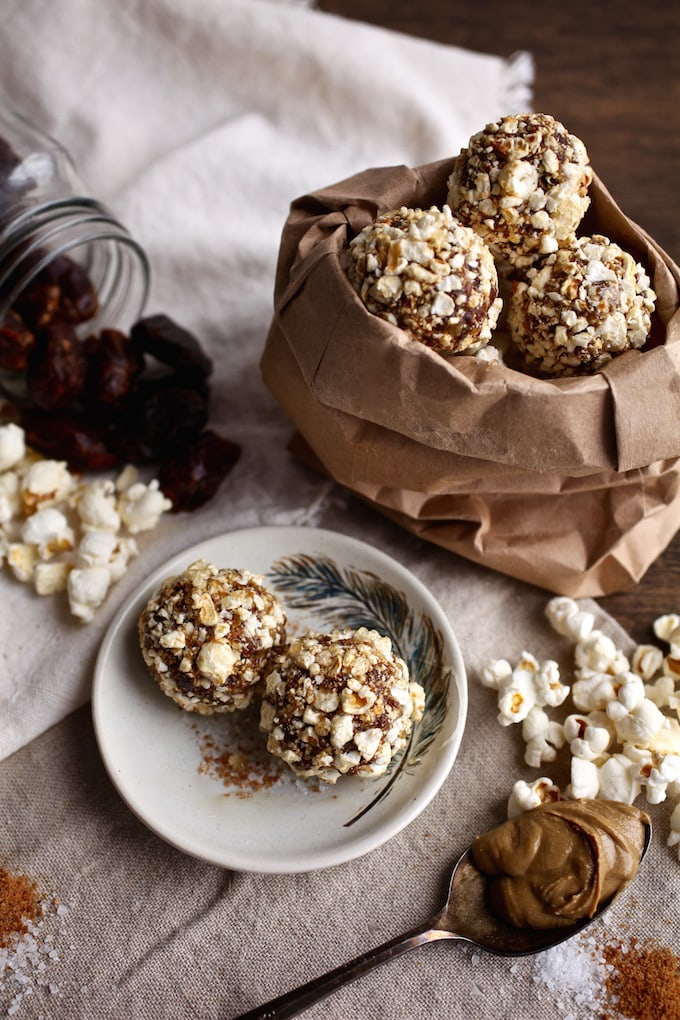 Sweet & Salty Popcorn Balls via Nutritionist in the Kitch