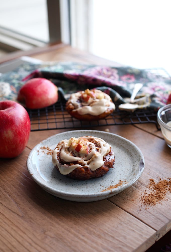 5-Minute Valentine's Apple Cinnamon Rolls (gluten, dairy, and egg free) via Nutritionist in the Kitch