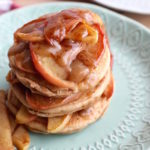 Healthy Apple Caramel Pancakes (GF & DF)