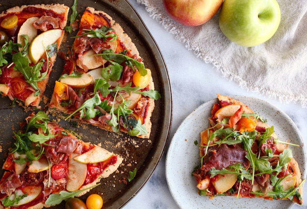 Ham N' Apple Arugula Pizza (GF & DF)
