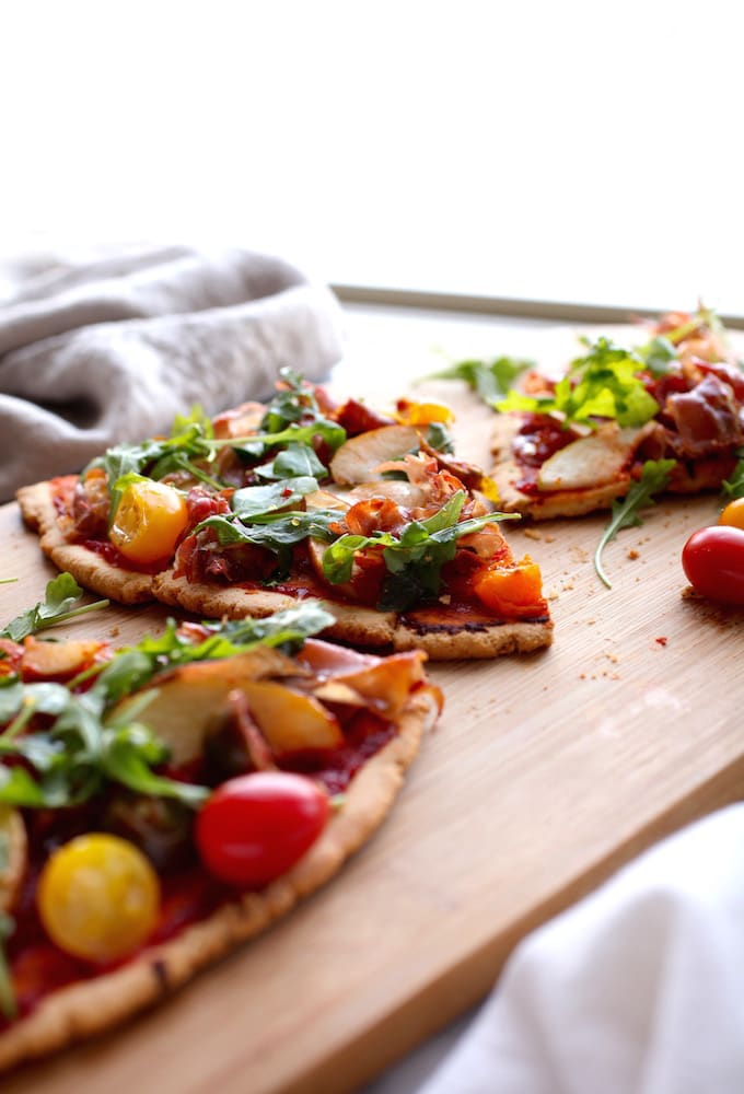 Ham N' Apple Arugula Pizza (GF & DF) via Nutritionist in the Kitch