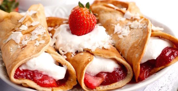 Strawberry Shortcake Protein Crepes