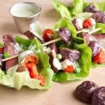 Steak & 'Blues' Salad Boats with Dilly Avocado Ranch Dressing