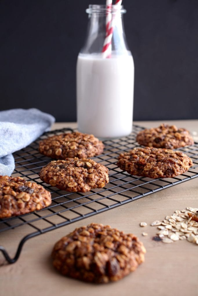 Soft & Chewy Oatmeal Raisin Cookies via Nutrition in the Kitch
