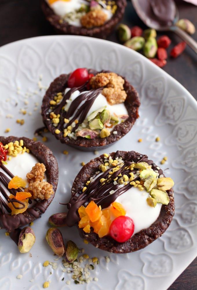 Coconut Yogurt Superfood Tarts & Let's Talk Probiotics via Nutritionist in the Kitch