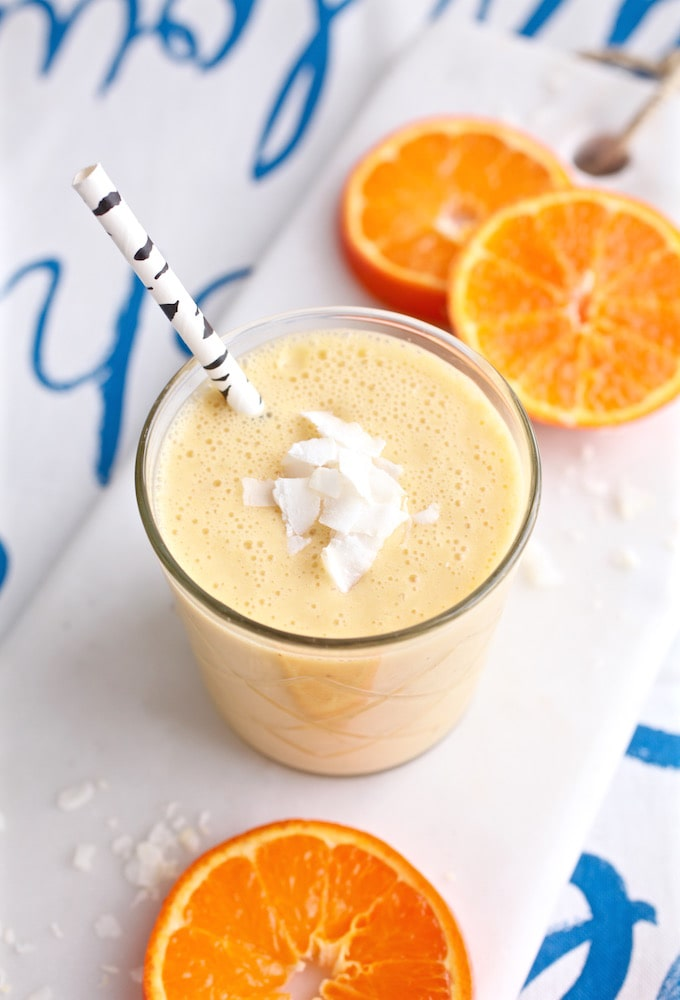 Tasty Tangerine Creamsicle Smoothie via Nutrition in the Kitch