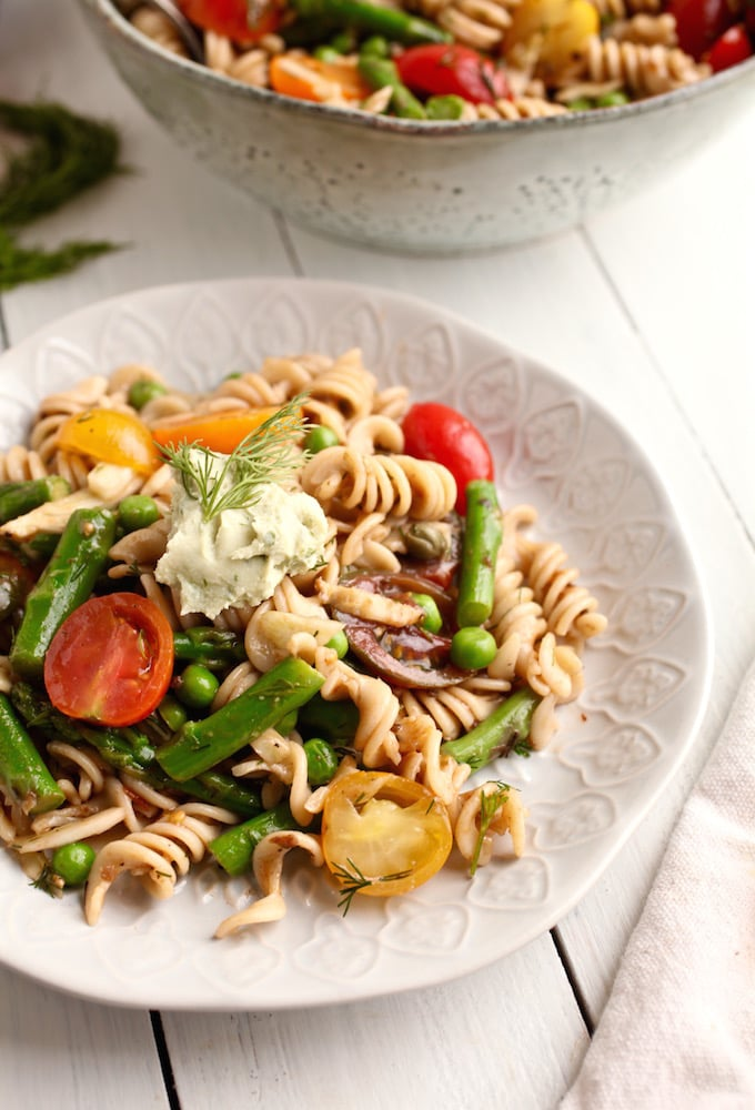 Simple Spring Pasta Salad // Gluten & Diary Free via Nutrition in the Kitch