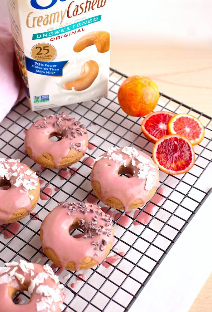 Baked Donuts with Strawberry Blood Orange Glaze // Gluten & Dairy Free via Nutrition in the Kitch