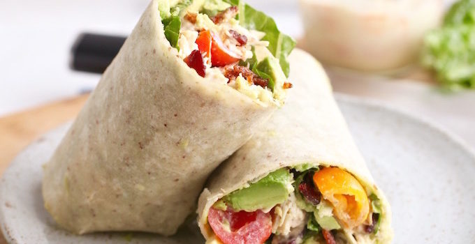 Spicy Avocado Chicken BLT Wrap & A Kamikoto Chef's Knife Giveaway!