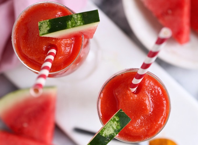 Watermelon Turmeric Lemonade Slushies