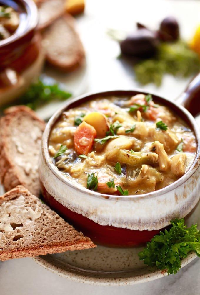 30-Minute Herbed Chicken & Potato Stew via Nutrition in the Kitch