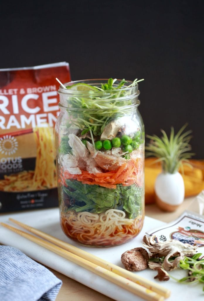 3 Fast & Healthy On-The-Go Lunch Recipes For Fall - Ramen Noodle Soup Jar