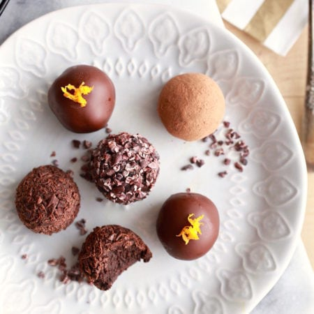 Superfood Chocolate Orange Ginger Truffles via Nutrition in the Kitch