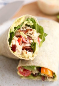 SPICY AVOCADO CHICKEN BLT WRAP