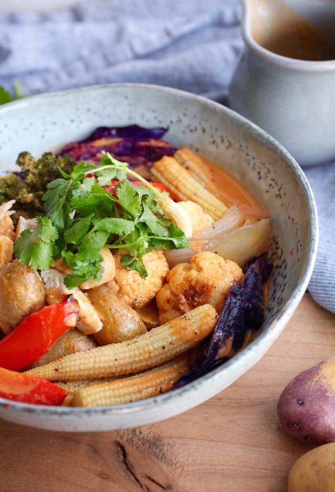 SHEET-PAN THAI PEANUT CURRY BOWL
