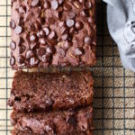 Fudgy Chocolate Banana Loaf (with hidden Zucchini and Avocado!) via Nutrition in the Kitch