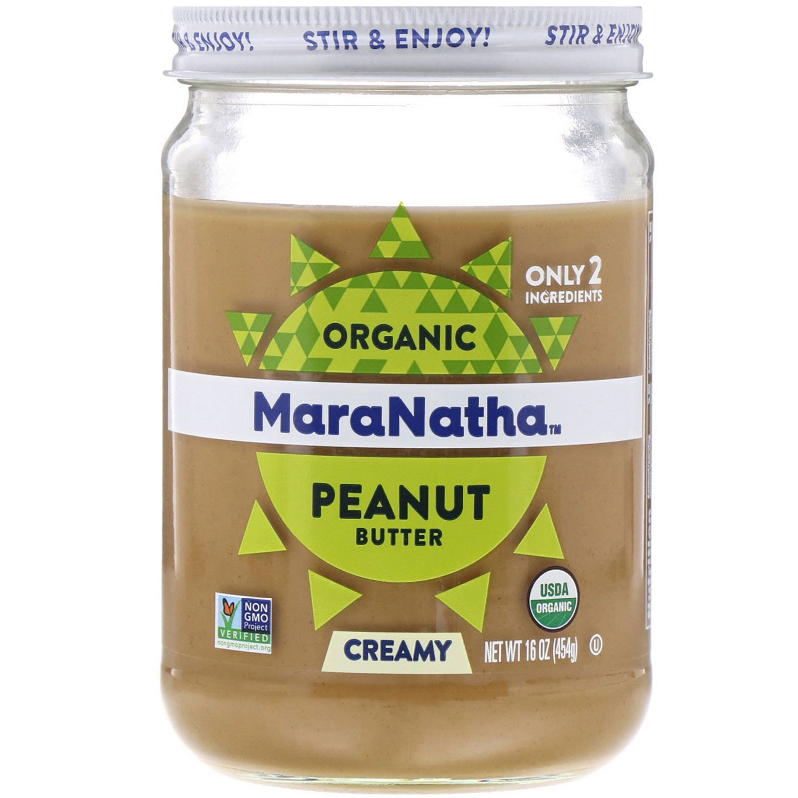 MaraNatha Organic Peanut Butter, Creamy