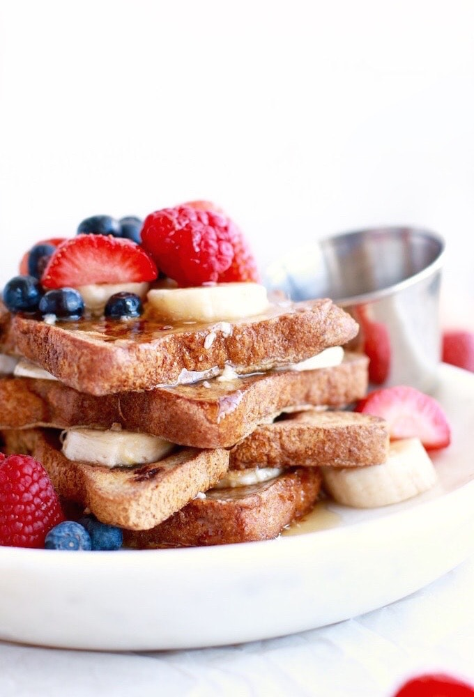 Lazy 5-Minute French Toast // Dairy & Gluten Free via Nutrition in the Kitch