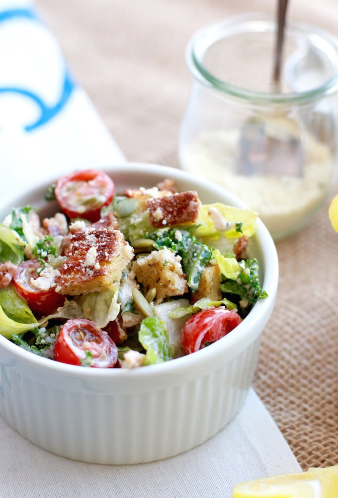 Healthy caesar salad recipe with chicken