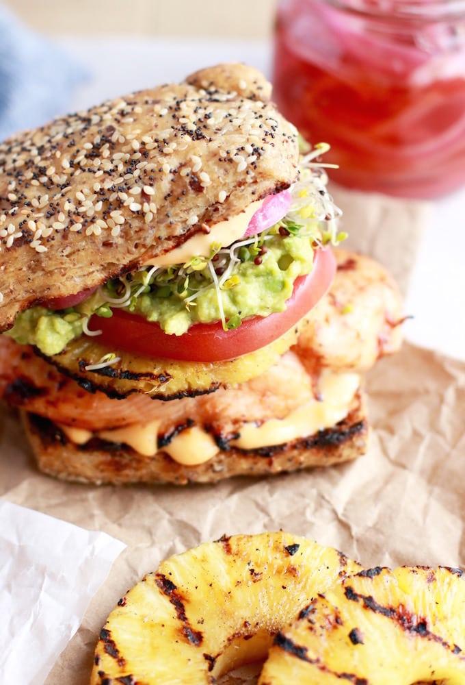 Aloha Chicken Burgers - www.nutritioninthekitch.com - #chickenburger #hawaiianburger #healthyburger #burger #healthyfood #healthyrecipes #nutritioninthekitch #glutenfree #dairyfree