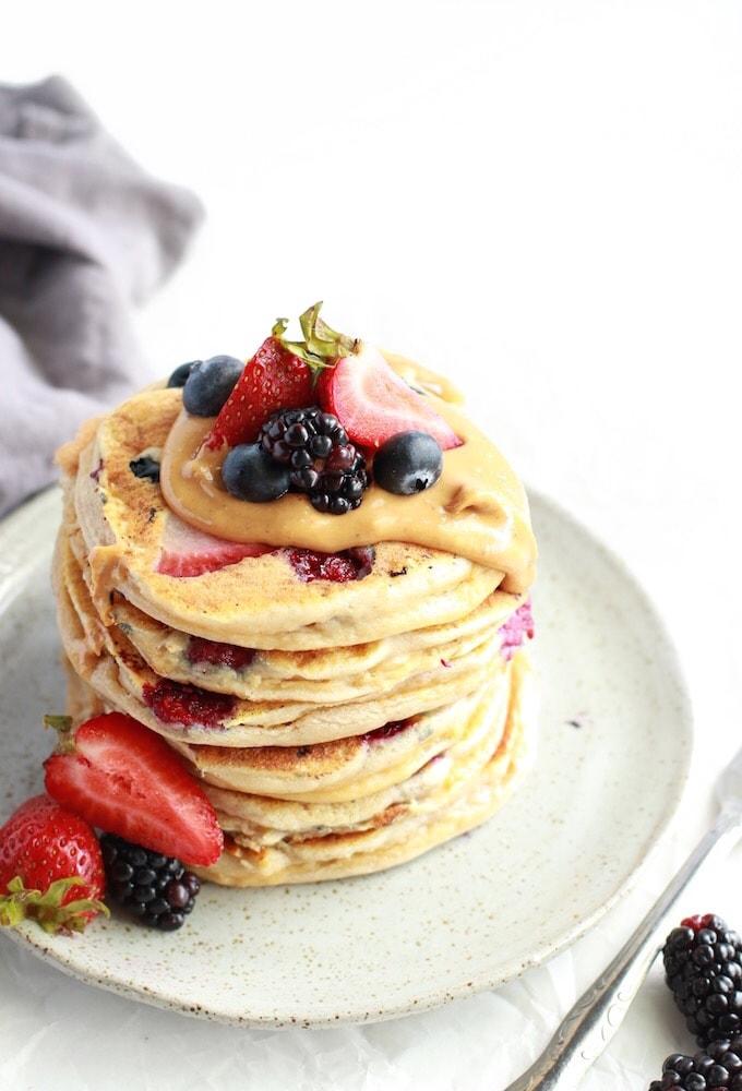 Bumbleberry Paleo Protein Pancakes