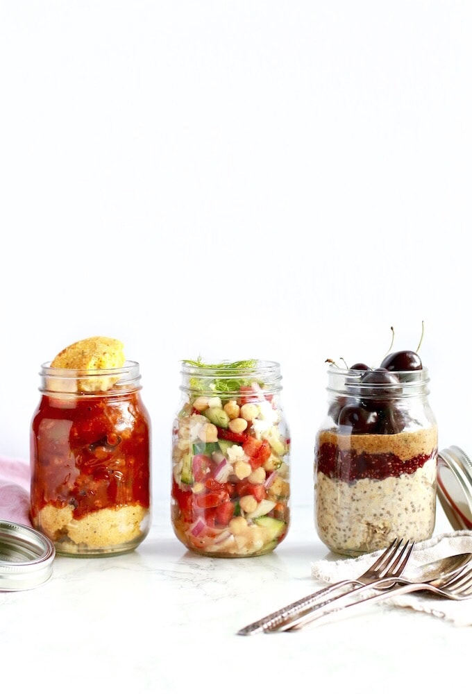 3 Healthy Mason Jar Meals (Perfect for Camping!)