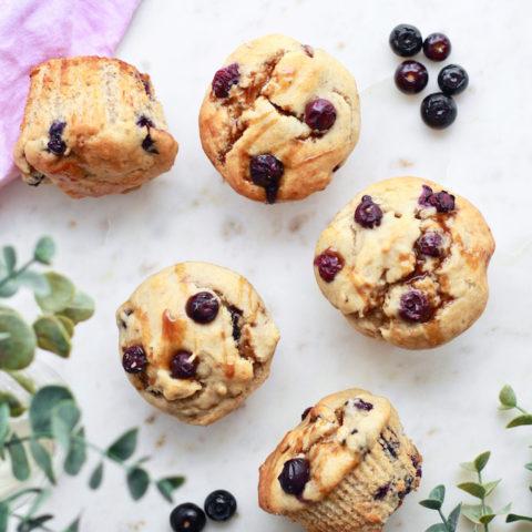 The Best Ever Gluten Free Blueberry Muffins