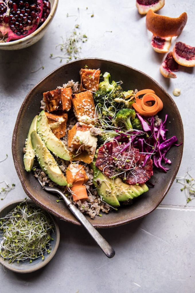 17 healthy and delicious Winter Salad and Winter Bowl recipes that are gluten free, dairy free, and some are vegan too! Easy to make, potluck friendly, and some with warm roasted veggies, these recipes will keep you fuelled and nourished all winter long!