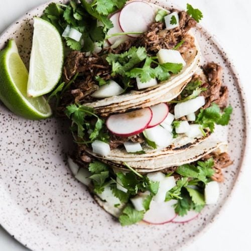 10 Easy and Healthy Crockpot Recipes | Slow Cooker Barbacoa Beef Tacos