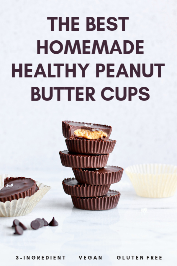 All you need is 3-ingredient plus one optional gut-healthy ingredient to make this delicious and healthy homemade peanut butter cups recipe! If you love chocolates and want a healthier, gluten free, dairy free, or vegan treat, make this easy dessert or snack that tastes just like Reeses cups with sea salt!