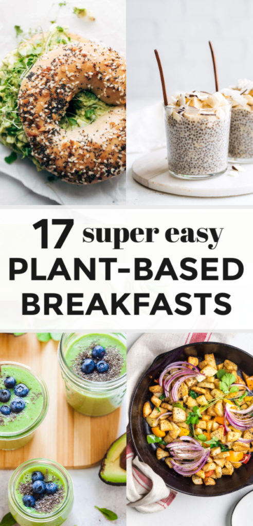 These 17 Easy Plant-Based Breakfast Recipes are loaded with the most delicious and wholesome plant foods and some might even surprise you. If you like savory or sweet for breakfast there's a healthy plant-based option for everyone and I'm answering 'what is a plant-based diet?' too!