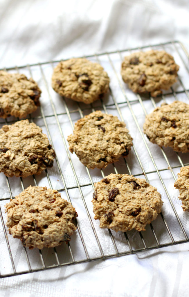 9 Surprisingly Healthy Gluten Free Oatmeal Raisin Cookies // Chewy Gluten Free Oatmeal Raisin Cookies via Strength and Sunshine