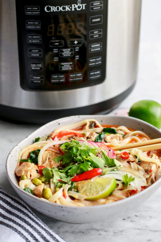 15-Minute Thai Chicken Soup with Spring Vegetables