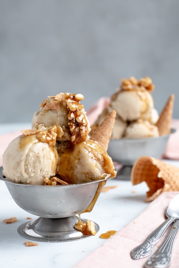 12 Homemade Dairy Free Ice Cream Recipes for Summer // Banana Nice Cream with Wet Walnuts from My Quiet Kitchen