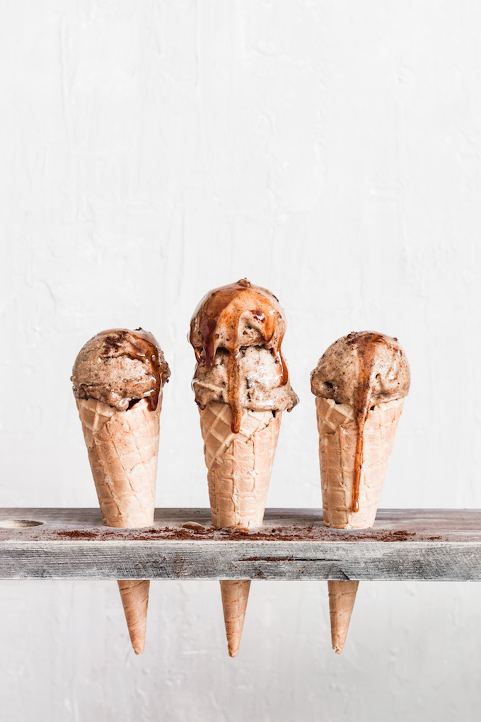 12 Homemade Dairy Free Ice Cream Recipes for Summer // Coffee Mocha Nice Cream from Healthy Little Cravings