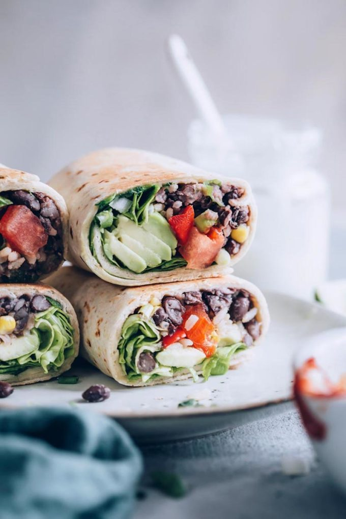 22 Make-Ahead Healthy Camping Recipes - Vegan Bean Burritos from Nutriciously
