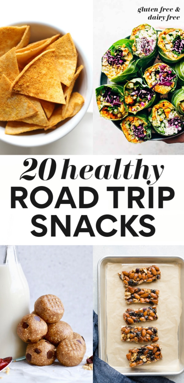 Check out this great list of easy 20 Healthy Road Trip Snacks with both sweet and savory options. They are all homemade, dairy free, gluten free, plant-based (mostly vegan), and great for kids and for adults alike, and many are no cooler friendly too! Enjoy a short or long road trip with nourishing snacks in tow!