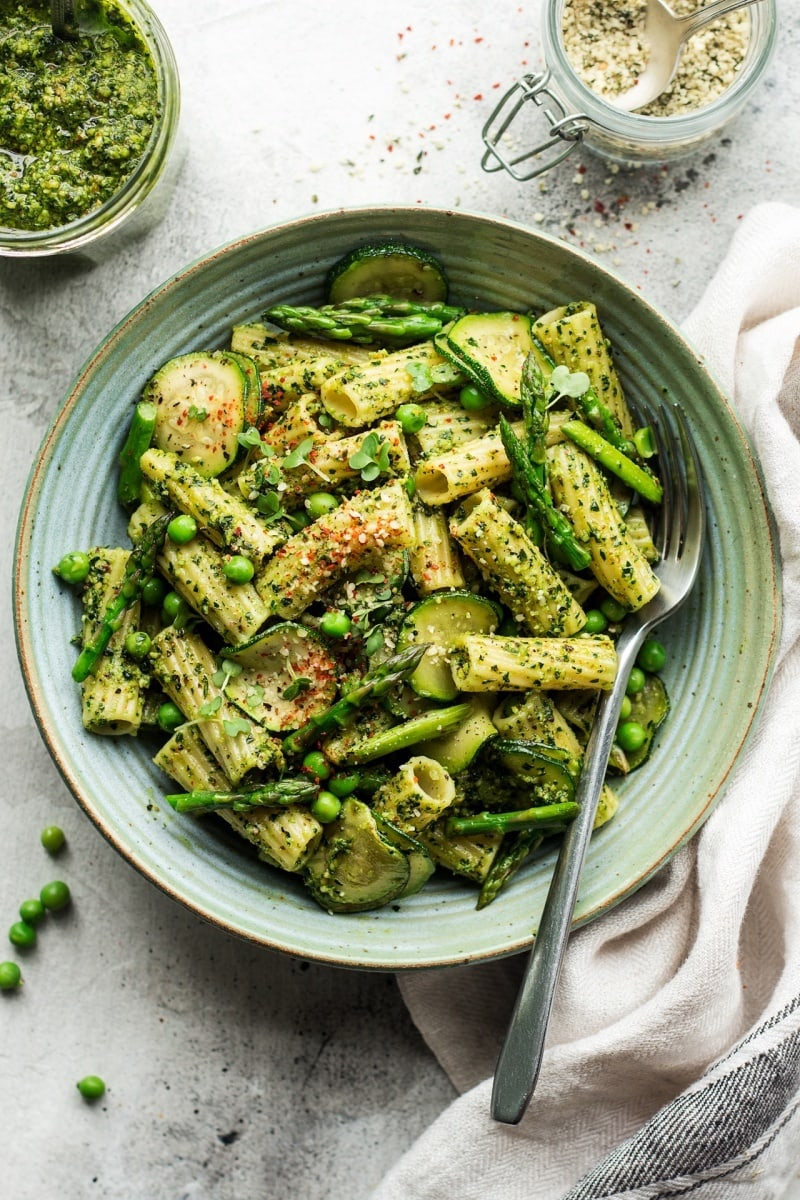 Healthy Pesto Recipes: 15 Unique & Delicious Options - Vegan Pesto Pasta Bowl