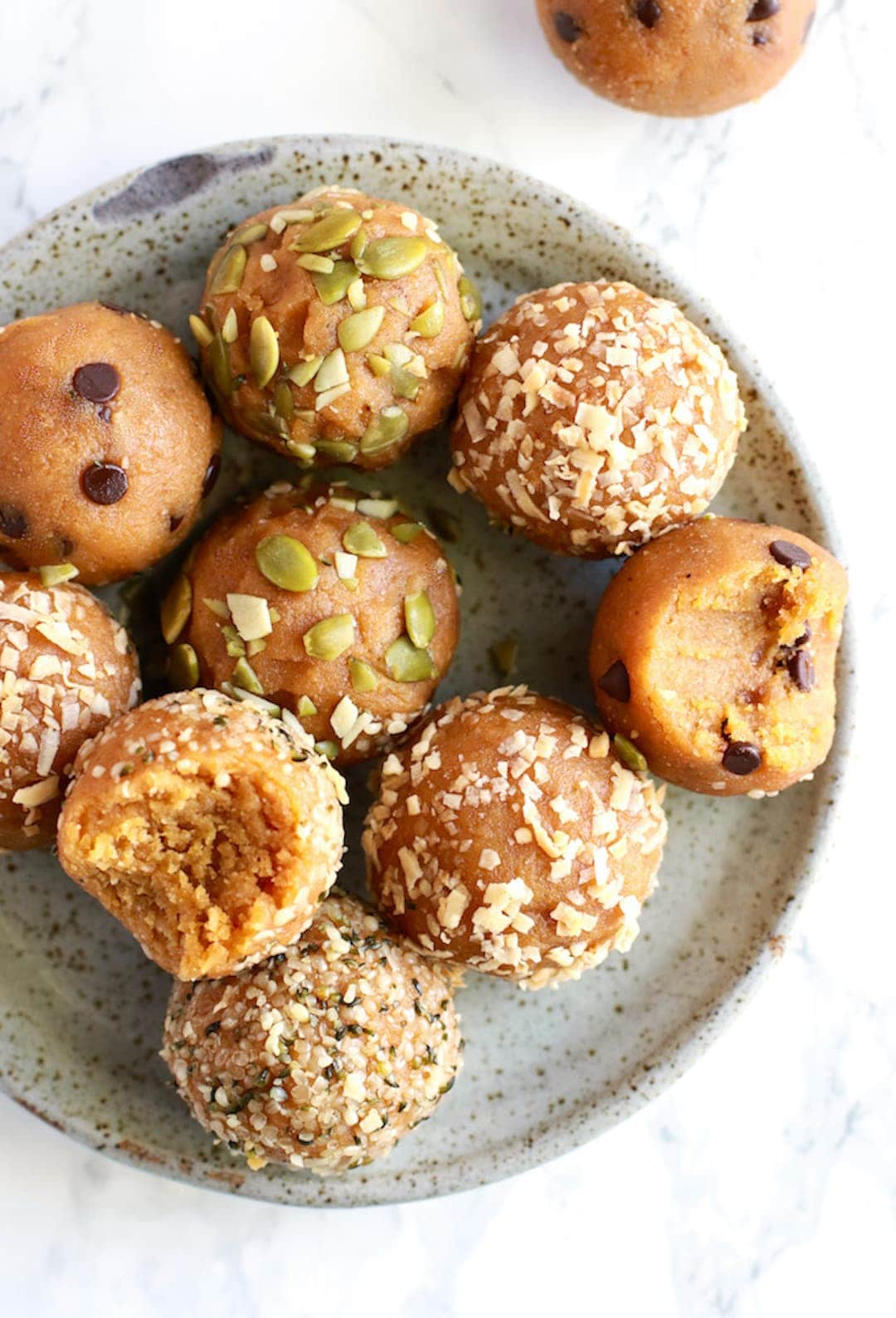 10 Terrific & Simple Healthy Fall Recipes - Pumpkin Pie Energy Balls