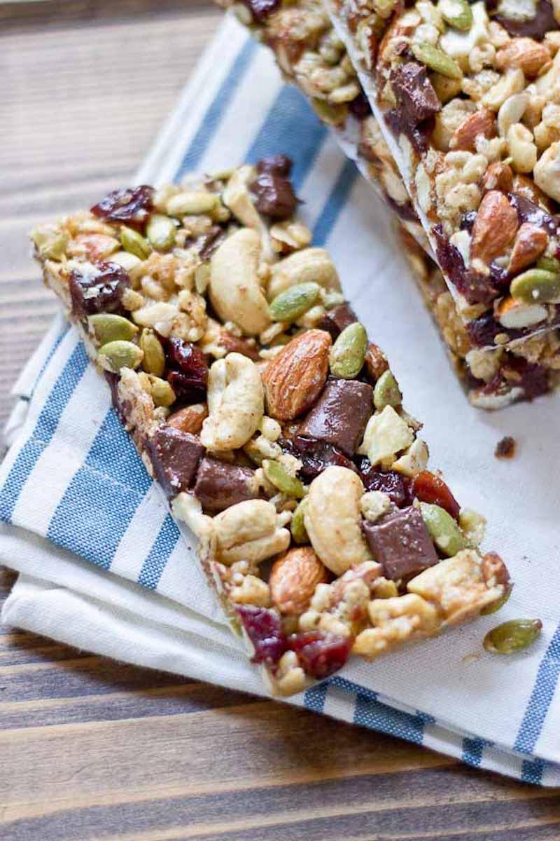 10 Must-Make Healthy Homemade Granola Bars - Dark Chocolate Cherry Bars from Love and Zest