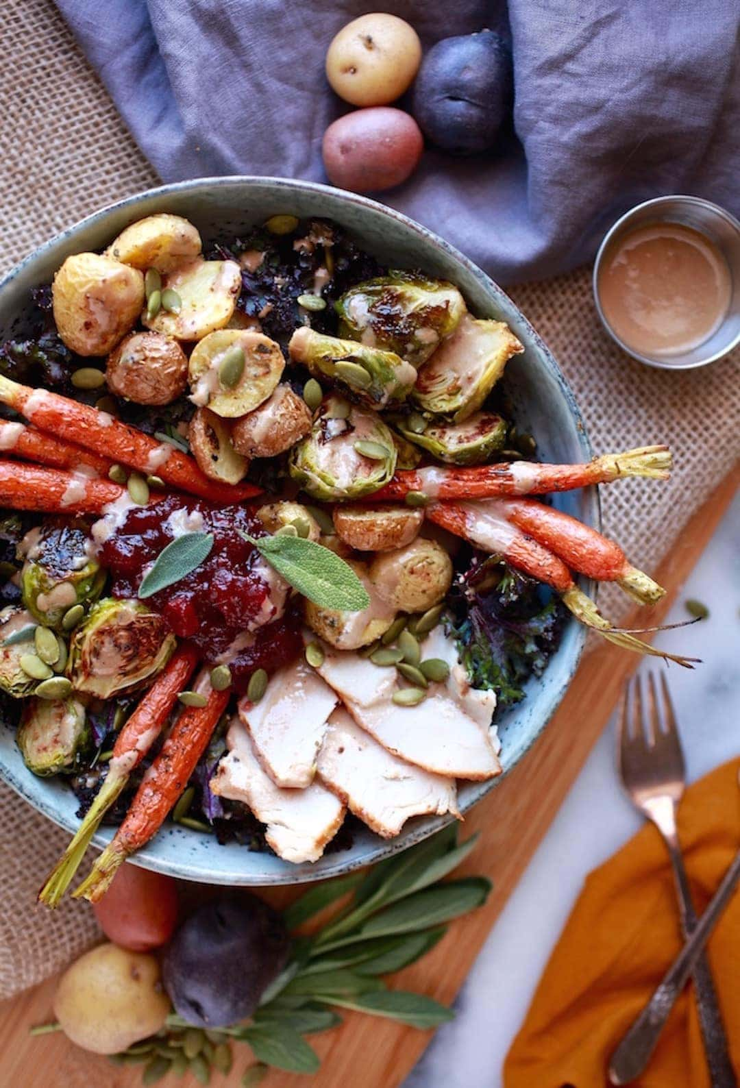 10 Terrific & Simple Healthy Fall Recipes - Thanksgiving Abundance Bowl