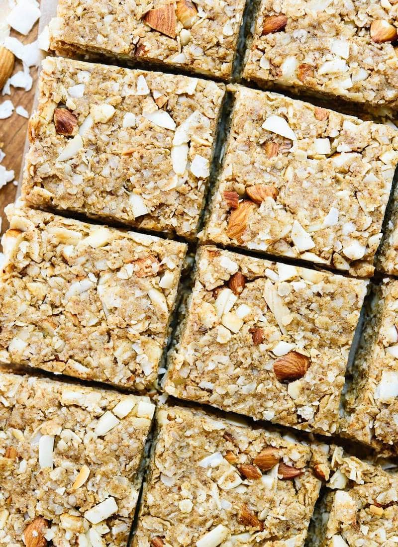 10 Must-Make Healthy Homemade Granola Bars - Almond Coconut Granola Bars from Cookie + Kate